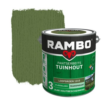 Rambo Pantserbeits Tuinhout zijdeglans loofgroen transparant 2,5 l