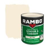 Rambo Pantserbeits Schuur & Tuinhuis zijdeglans ral 9001 dekkend 750 ml