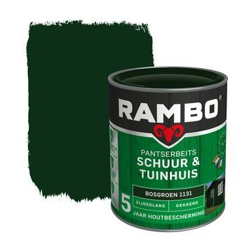 Rambo Pantserbeits Schuur & Tuinhuis zijdeglans bosgroen dekkend 750 ml