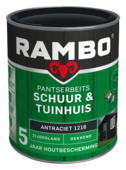 Rambo Pantserbeits Schuur & Tuinhuis zijdeglans antraciet dekkend 750 ml