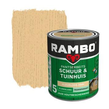 Rambo Pantserbeits Schuur & Tuinhuis zijdeglans kleurloos transparant 750 ml