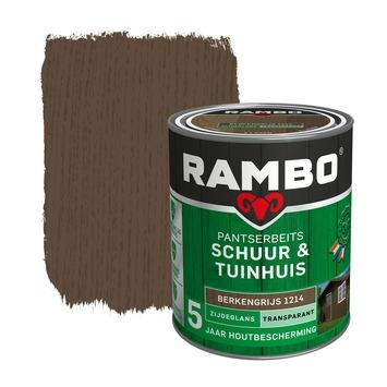 Rambo Pantserbeits Schuur & Tuinhuis zijdeglans berkengrijs transparant 750 ml