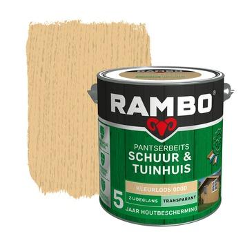 Rambo Pantserbeits Schuur & Tuinhuis zijdeglans kleurloos transparant 2,5 l