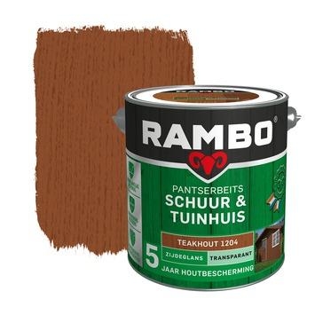 Rambo Pantserbeits Schuur & Tuinhuis zijdeglans teakhout transparant 2,5 l