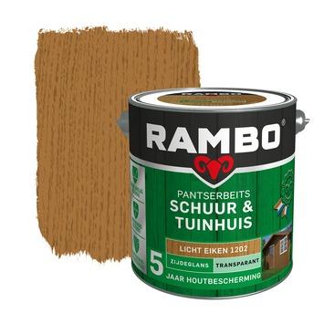 Rambo Pantserbeits Schuur & Tuinhuis zijdeglans lichteiken transparant 2,5 l