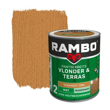 Rambo Pantserbeits Vlonder & Terras mat teak hout transparant 1 l