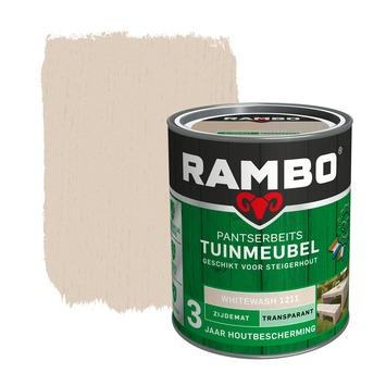 Rambo Pantserbeits Tuinmeubel zijdemat whitewash transparant 750 ml