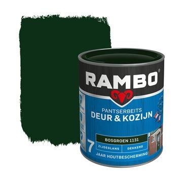 Rambo Pantserbeits Deur & Kozijn zijdeglans bosgroen dekkend 750 ml