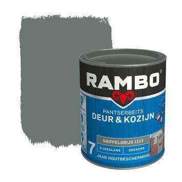 Rambo Pantserbeits Deur & Kozijn zijdeglans griffelgrijs dekkend 750 ml