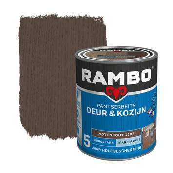 Rambo Pantserbeits Deur & Kozijn hoogglans notenhout transparant 750 ml
