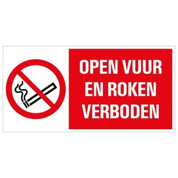 Pickup bord open vuur verboden 15x30 cm