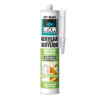 Bison acrylaatkit universeel wit koker 300 ml
