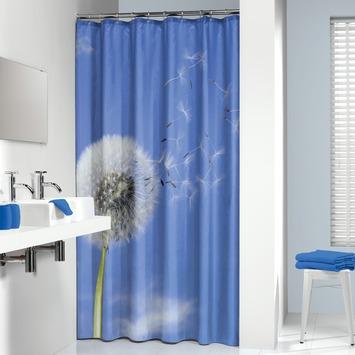Sealskin Blow Ball textiel douchegordijn blauw 180x200 cm