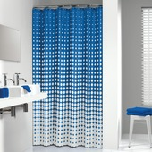 Sealskin Speckles textiel douchegordijn royal blauw 180x200 cm
