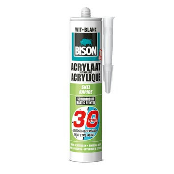 Bison acrylaatkit snel 30 minuten wit koker 300 ml