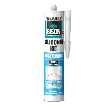 Bison siliconenkit acrylbaden transparant koker 300 ml