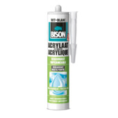 Bison acrylaatkit regenvast wit koker 300 ml