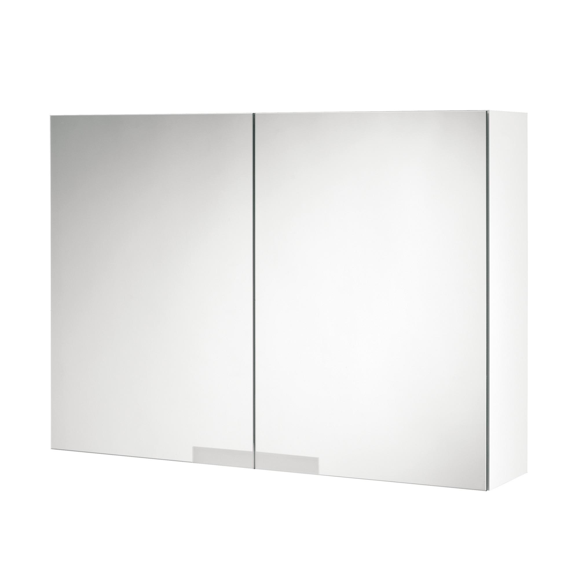 Tiger Items spiegelkast 70 x 50 cm, wit hoogglans