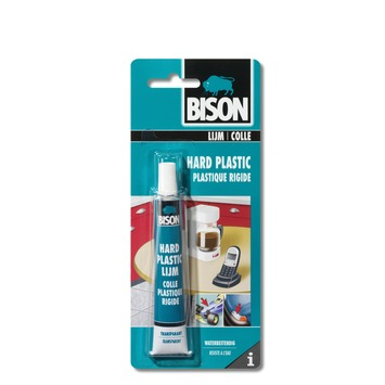 Bison hard plastic lijm blister 25 ml
