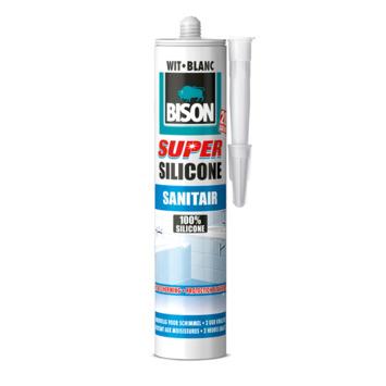 Bison super silicone sanitair wit koker 300 ml