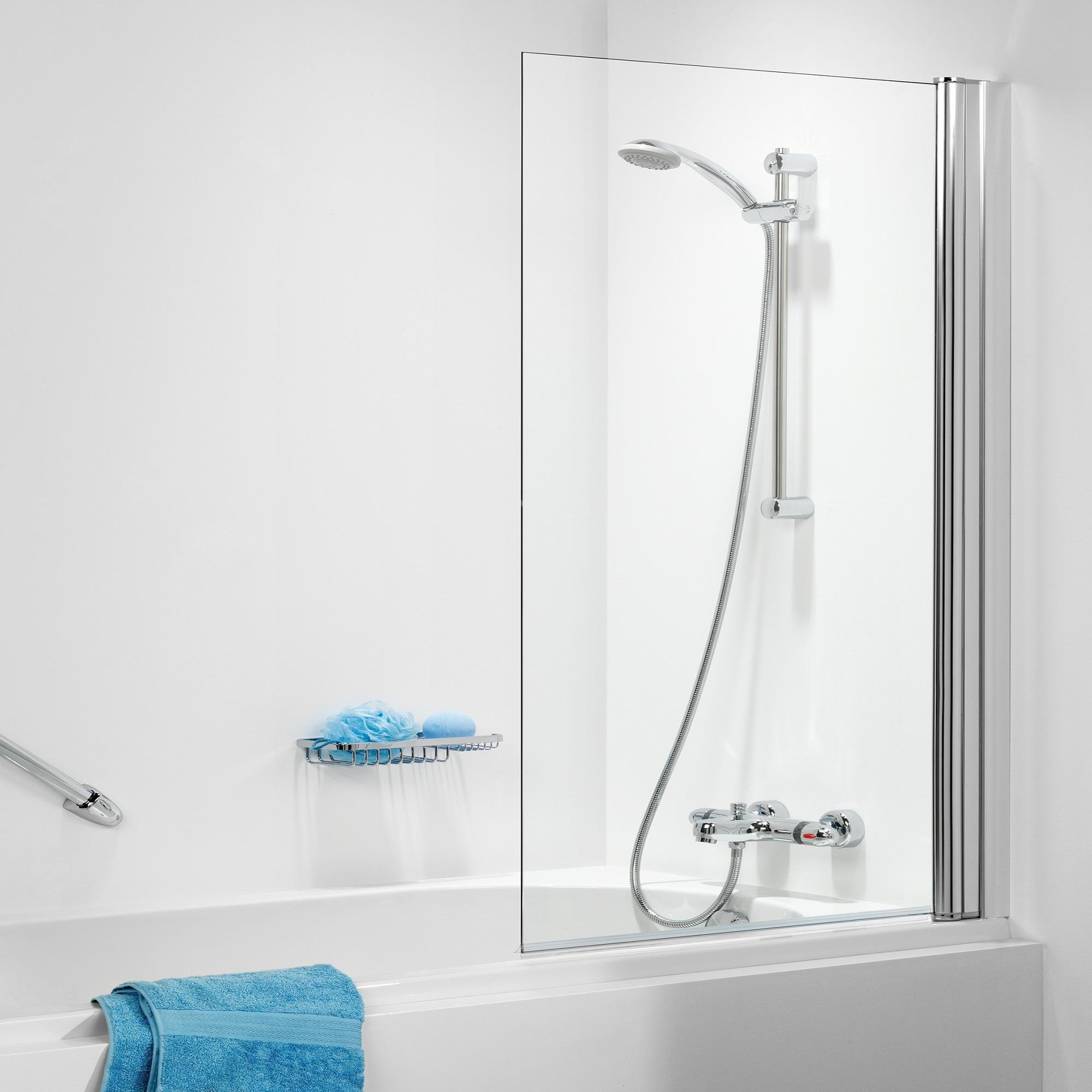 Sealskin Get Wet S105 badzijwand 1 delig 70x140cm chroom profiel en helder glas