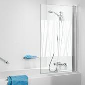 Get Wet S105 1-delige badklapwand 70x140cm chroom met decor