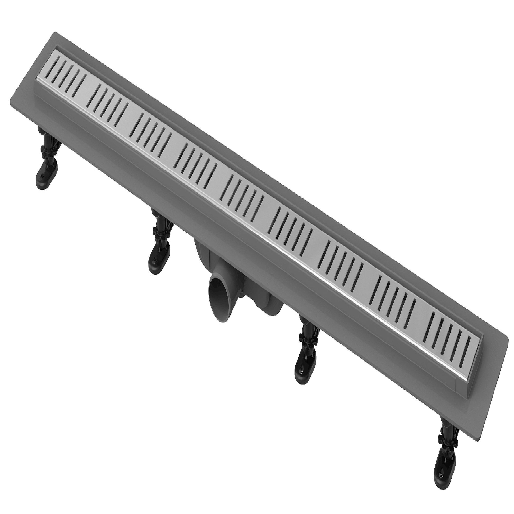 Sealskin Get Wet Elegance douchegoot lengte 75cm inbouwdiepte 7,5 tot 11cm kunststof grijs
