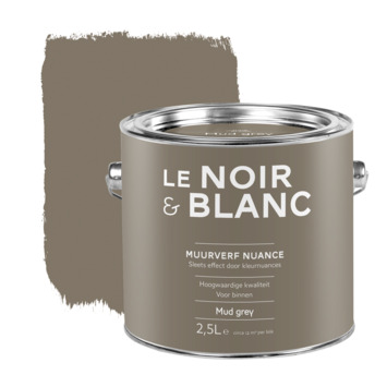 Le Noir & Blanc muurverf nuance mud grey 2,5 l