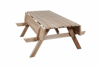 Picknicktafel douglas met opklapbare banken cm kopen karwei