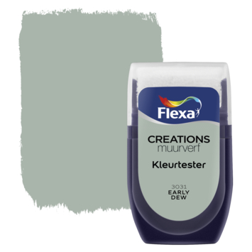 Flexa Creations muurverf Kleurtester Early Dew mat 30ml