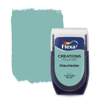 Flexa Creations muurverf Kleurtester Vintage Blue mat 30ml