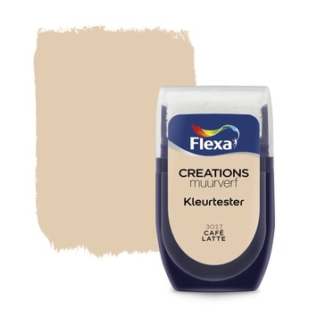 Flexa Creations muurverf kleurtester cafe latte 30 ml