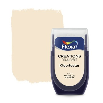 Flexa Creations muurverf kleurtester vanilla cream 30 ml