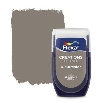 Flexa Creations muurverf kleurtester spacious grey 30 ml