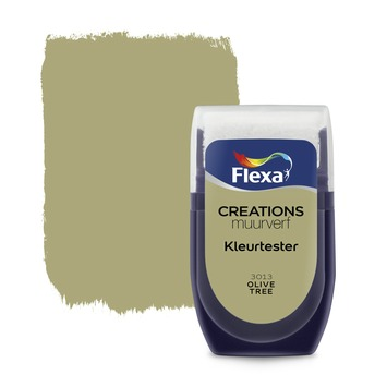 Flexa Creations muurverf Kleurtester Olive Tree mat 30ml