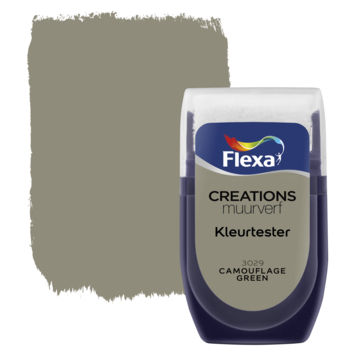 Flexa Creations muurverf Kleurtester Camouflage Green 30ml