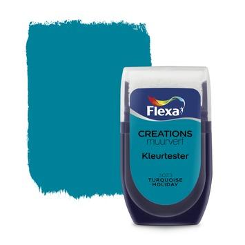 Flexa Creations muurverf Kleurtester Turquoise Holiday 30ml