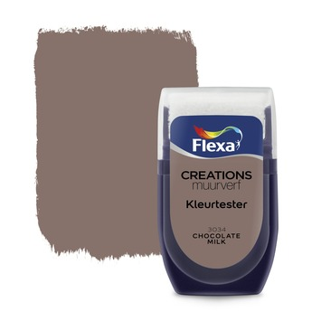 Flexa Creations muurverf kleurtester chocolate milk 30 ml