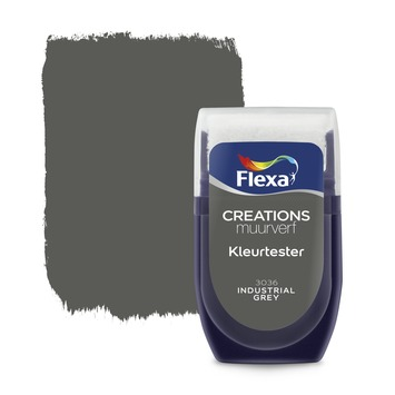 Flexa Creations muurverf kleurtester industrial grey 30 ml