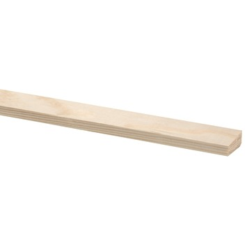 Glaslat grenen 13x28 mm lengte 270 cm
