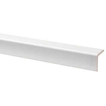 Hoeklat grenen wit gegrond 27x27 mm lengte 270 cm