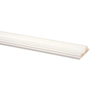 Decorlijst grenen 18x68 mm wit gegrond lengte 270 cm