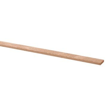 Schaaflat hardhout 4x18 mm, lengte 270 cm