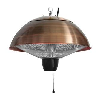 Hangende elektrische terrasverwarmer Gemma 1500W koper