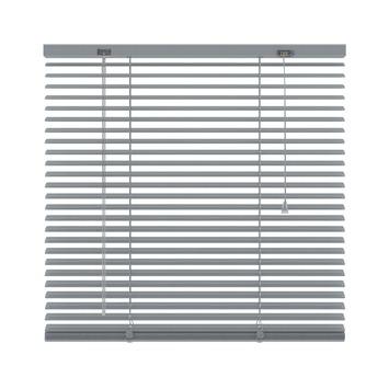 KARWEI horizontale aluminium jaloezie 25 mm zilver (221) 60 x 130 cm (bxh)