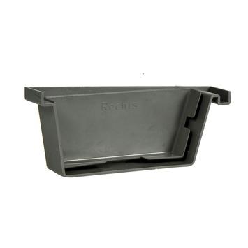 Martens bakgooteindstuk rechts grijs 125 mm