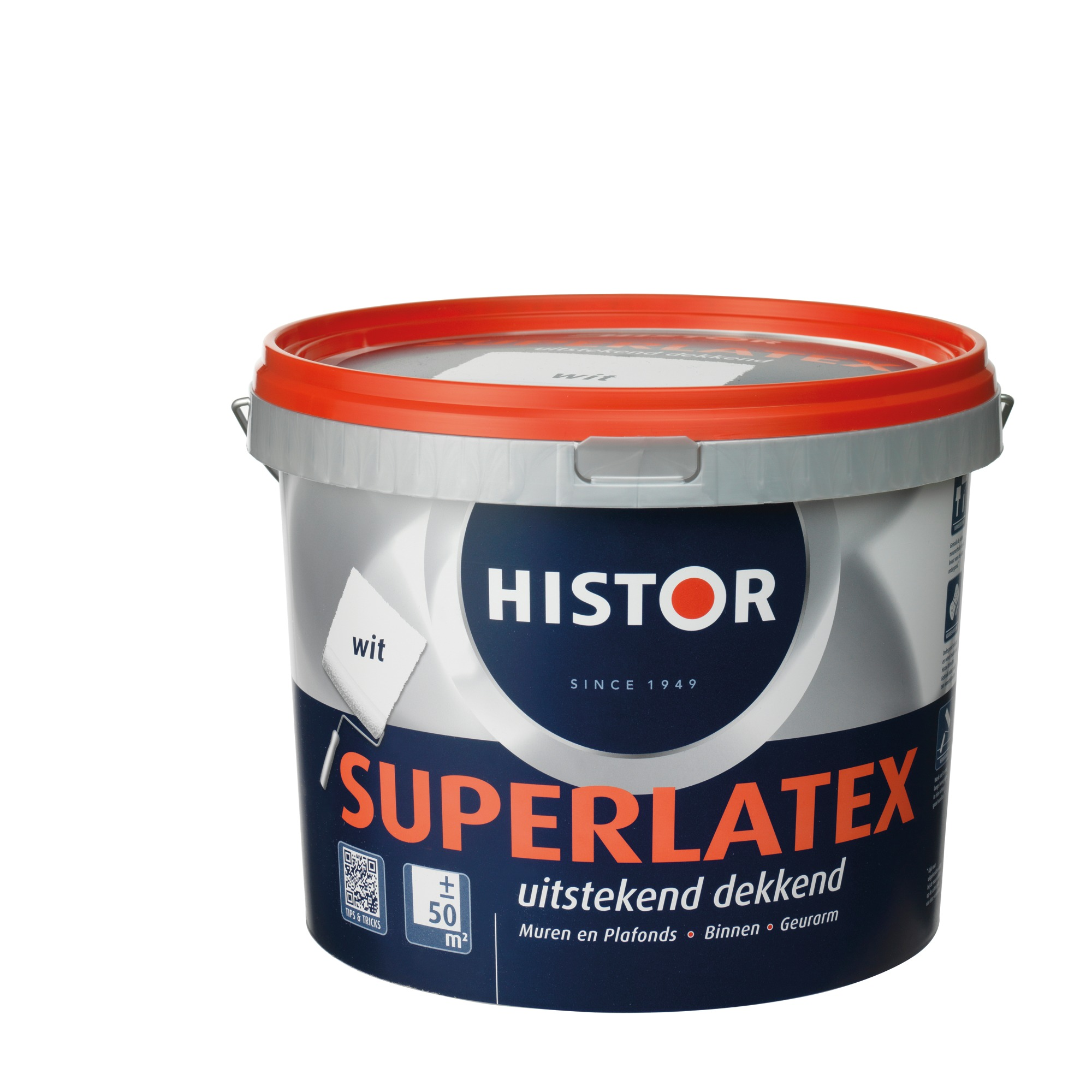 Histor Super latex muurverf mat wit 5 l