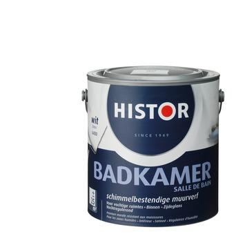 Histor muurverf badkamer zijdeglans wit 2,5 l