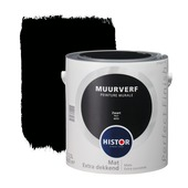 Histor Perfect Finish muurverf mat zwart 2,5 l