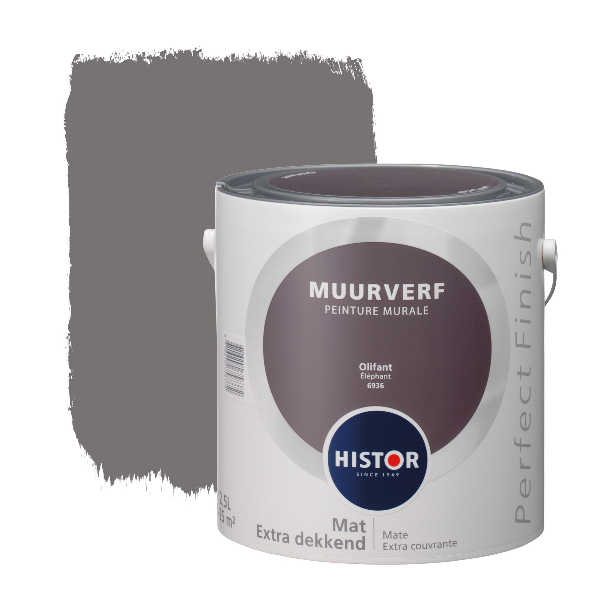Histor perfect finish muurverf mat paars 6936 2,5 l